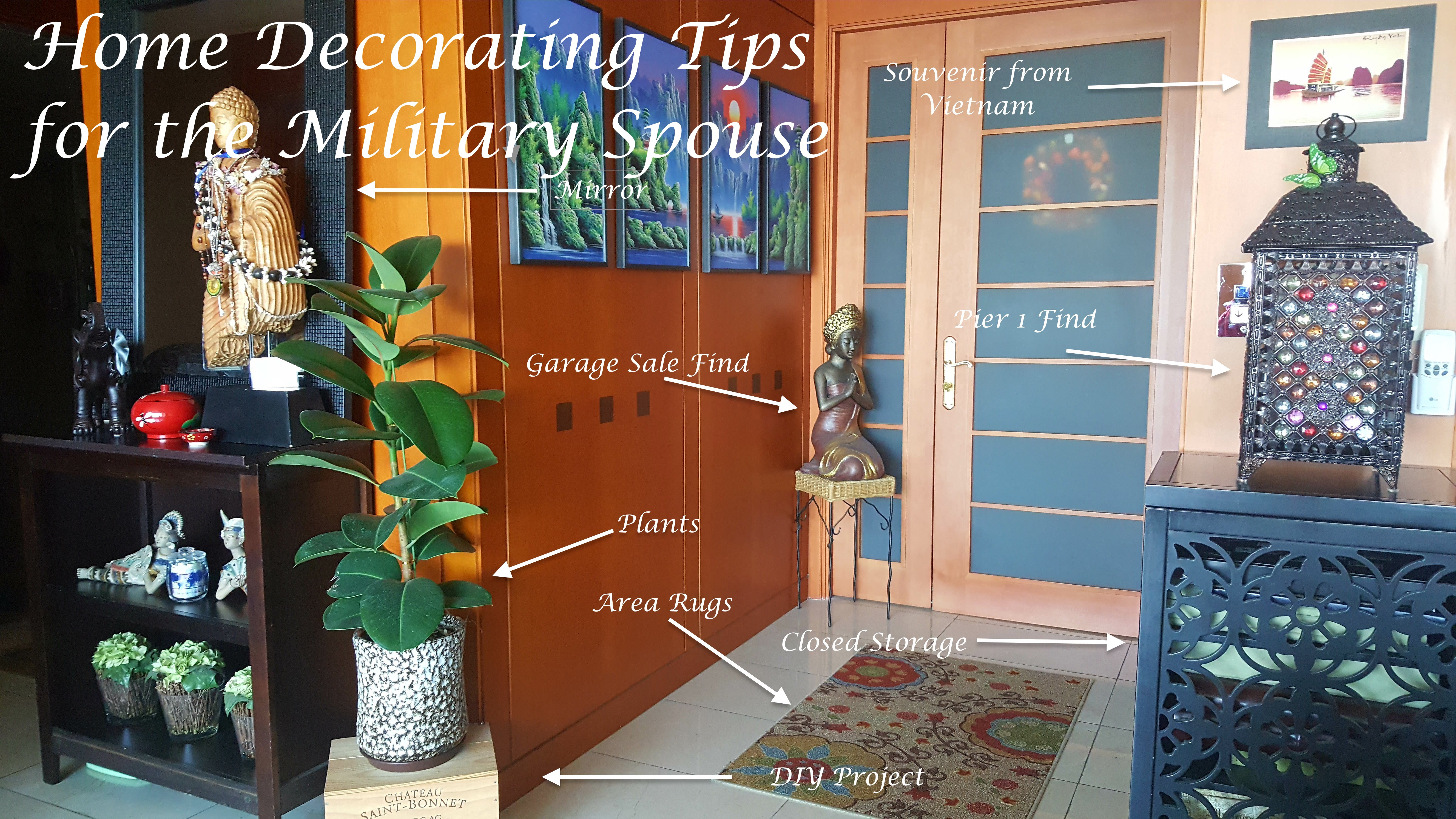 Home Decorating Tips for the Military Spouse | duffelbagspouse ...